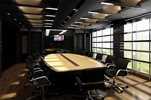 Boardroom wide shot